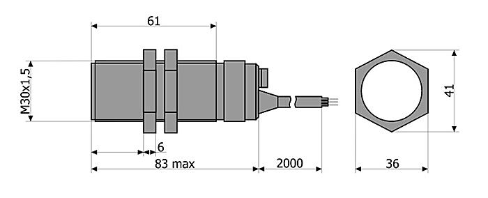 масса и габариты датчика ВБШ-03