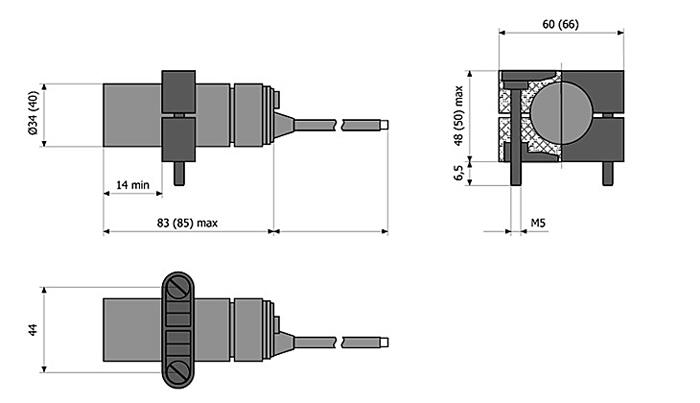 габариты выключателя ВБШ-03