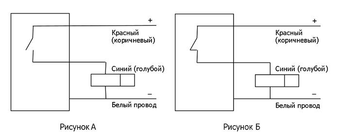 Электрические схемы подключения бесконтактных датчиков БТП