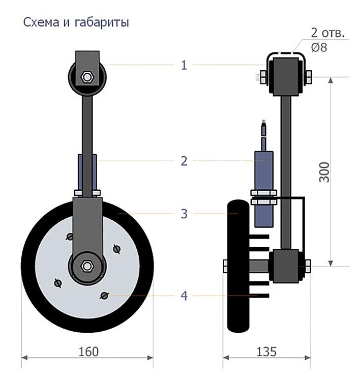 габариты и схема датчика скорости ДСТЛ-002